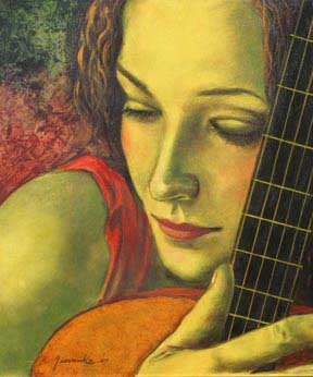 Chica Sexy Guitarra Imágenes De Archivo, Vectores,